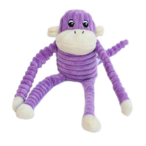 Zippy Paws - Spencer the Crinkle Monkey - Purple