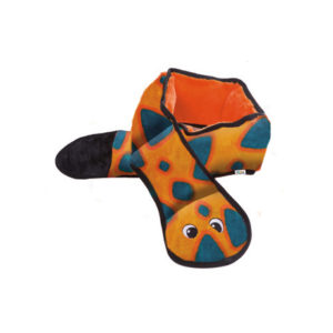 Outward Hound - Invincible Snakes - 6 Squeaker Orange/Blue