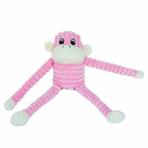 Zippy Paws - Spencer the Crinkle Monkey - Pink