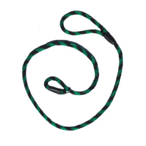 Hand Made Rope Slip Lead: Black & Green