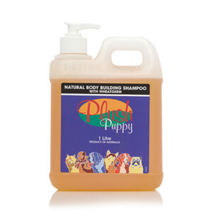 Plush Puppy Natural Body Building Shampoo with Wheatgerm