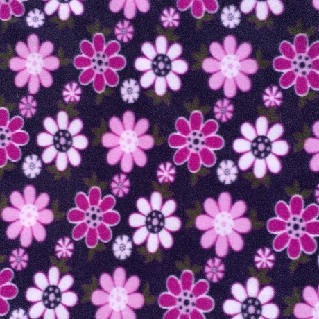 Purple Flower Polar Fleece