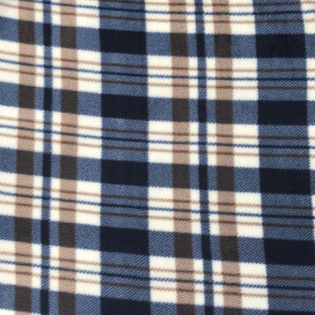 Blue and Brown Tartan Polar Fleece