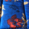 Red Flowers on Blue Cotton Crate Mats