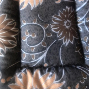 Brown Flowers Cotton Crate Mat