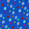 Daisies and Dots Royal Blue Background Polar Fleece
