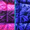 Purple & Black, Purple & Pink Cotton Crate Mats