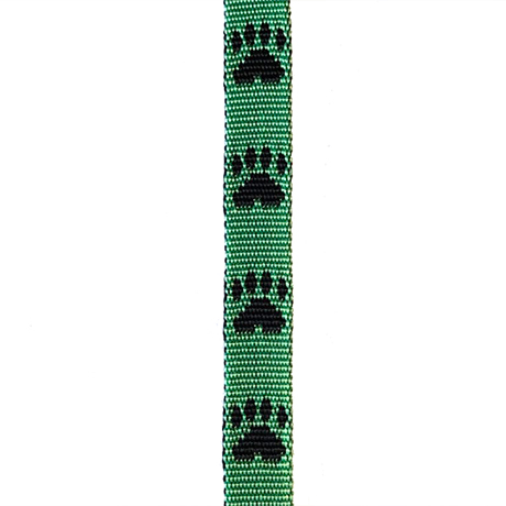 Black Paws on Green Small Fluff Collar
