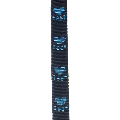 Blue Paws on Black Small Fluff Collar