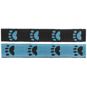 Black/Blue Paws Fluff Collars