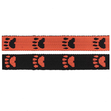 Black/Orange Paws Fluff Collars