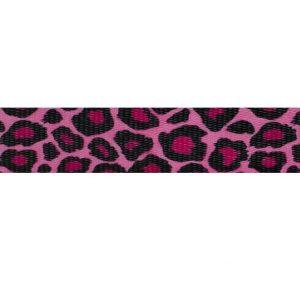 Pink Leopard Webbing