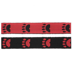 Black/Red Paws Fluff Collars