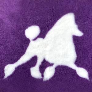 Poodle Running on Purple VetBed Square