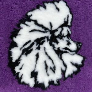 Purple Poodle Head VetBed
