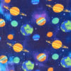Planets on Blue Polar Fleece