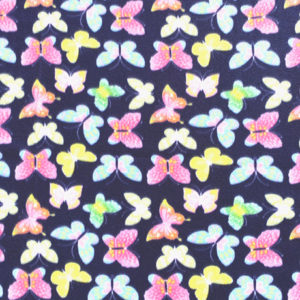 Butterflies on Navy Polar Fleece