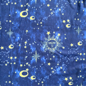 Celestial on Blue Polar Fleece