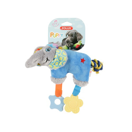 Zolux Puppy Teether Blue Elephant