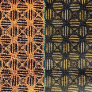 Orange Navy Geometric Combined Cotton Crate Mat