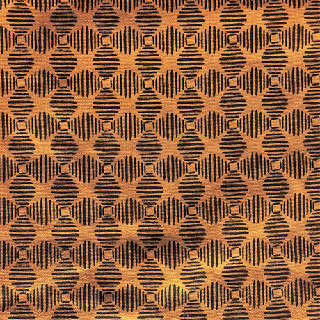 Orange Navy Geometric Cotton Crate Mat