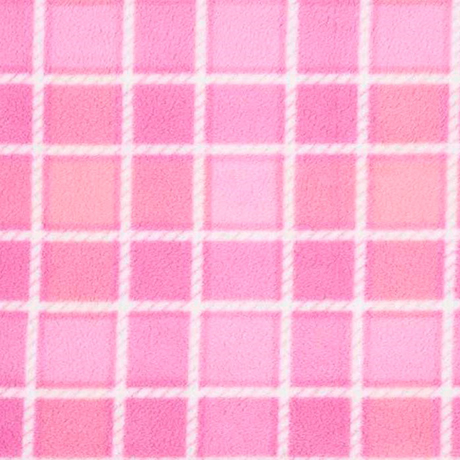 Pink Squares Polar Fleece