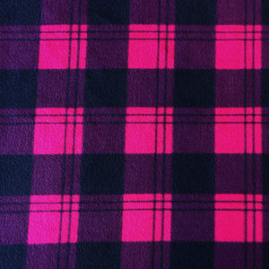 Pink Check Polar Fleece