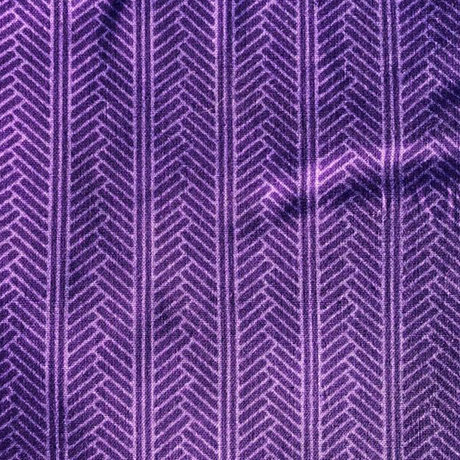 Purple Herringbone Cotton Crate Mat