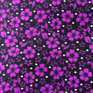 Purple Hibiscus Polar Fleece