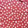 White Hearts on Red Polar Fleece