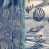 Blue Cream Seashells Tapestry Combination Crate Mat