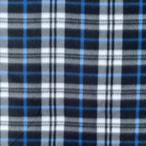 Black Blue Tartan Polar Fleece