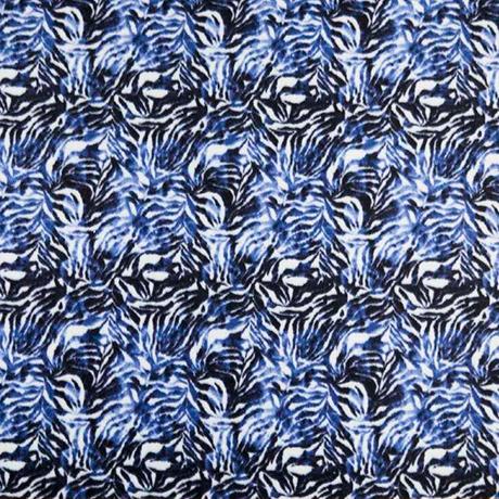 Blue Black Scribble Polar Fleece