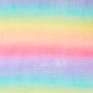 Coral Fleece Rainbow Pastel