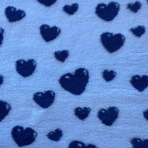 Navy Hearts on Blue VetBed