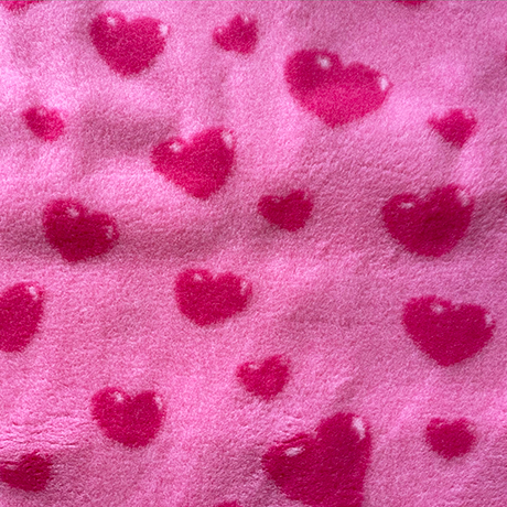 Red Hearts on Pink VetBed