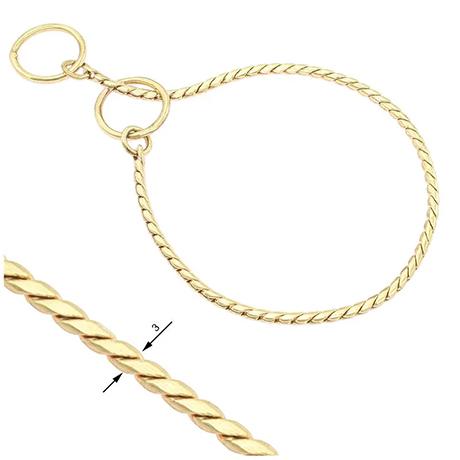 Snake Chain Show Collar 3mm Gold
