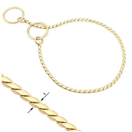 Snake Chain Show Collar 5mm Gold
