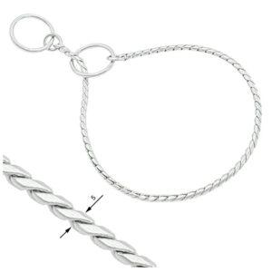 Snake Chain Show Collar 5mm Chrome