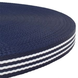 Fluff Collars and Leads - Blue White Stripes