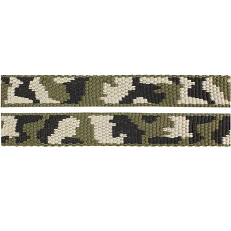 Fluff Collars and Leads - Camo Green