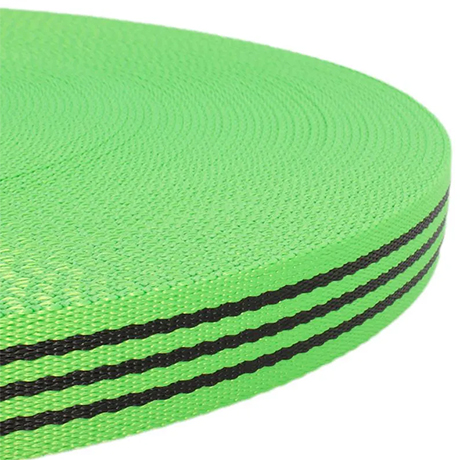 Fluff Collars and Leads - Green Black Stripes
