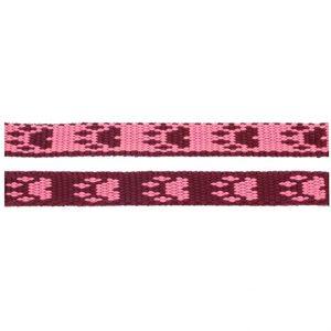 Paws Pink Burgandy Webbing