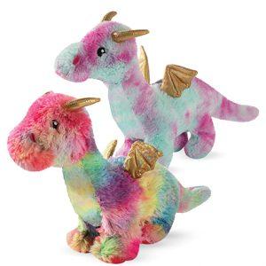 Fringe Dragon Plush Squeaky Dog Toys