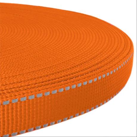 Orange Reflective Webbing
