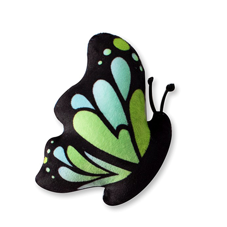 Fringe Miniz Butterflies Green