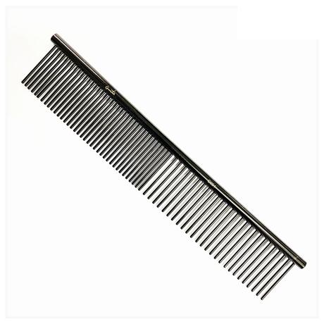 Groomtech Spring Black Teflon Grooming Comb 19cm
