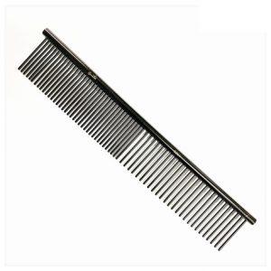 Groom Professional Black Anti Static Fine/Coarse Comb
