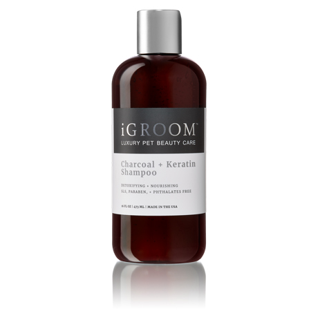 iGroom Charcoal + Keratin Shampoo 16oz (473ml)