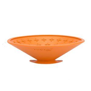 LickiMat Splash Wall & Floor Suction Slow Feeder Bowl Orange